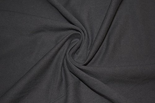 Cotton Lycra Jersey Knit Solid 2-Way Stretch 95% Cotton 5% Spandex Soft Fabric By The Yard (Charcoal) -