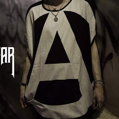 使役限りなく震えるFAR★STAR HARAJUKU 1st アナーキーOシャツ FAR STAR オーバーサイズユニセックスTシャツ
