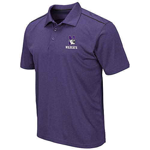 Mens Northwestern Wildcats Eagle Short Sleeve Polo Shirt - M
