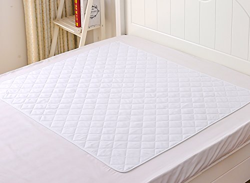 "THETIS Homes Theist Bedding Non-slip Waterproof Sheet and Mattress Protector 44""x 52"", Machine Washable, Highly Absorbent Bedwetting, Incontinence and baby Bed Pads"