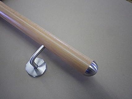 gefast 180 cm L/änge mit 3 Haltern und Endst/ück Buche Handlauf Treppen Gel/änder Handl/äufer 30-500 cm aus einem St/ück mit Halter St/ützen Tr/äger und bearbeiteten Enden