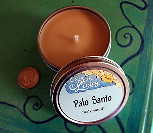 (Palo Santo Aromatherapy Candle with pure essential oil)