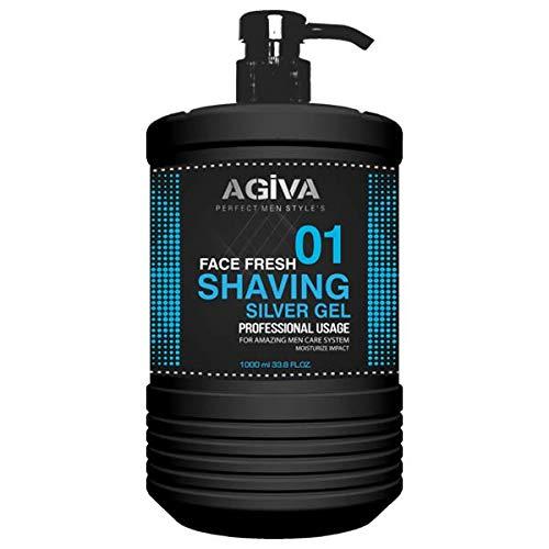 Agiva Transparent Shaving Gel 01 with Moisturize Impact 34oz