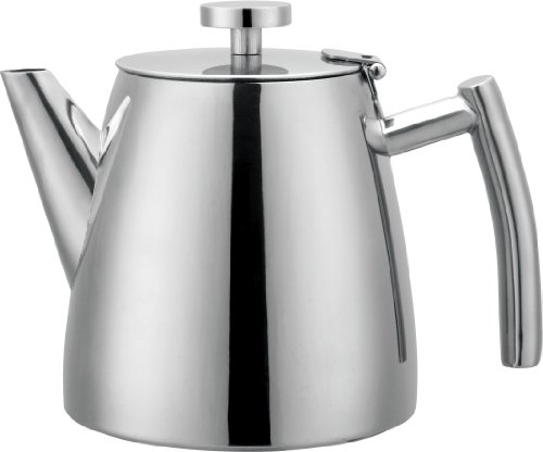 Grunwerg Cafe Ole Double Wall Insulated 40oz Stainless Teapot