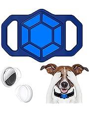 leChivée hoesje compatibel met Airtag Pet Collar,Siliconen AirTag Houder voor Apple Airtag GPS Tracking Finder Hond Kat Halsband Loop Accessoires,Anti-verloren draagbare luchttag-beschermhoes (blauw)