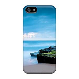 Excellent Iphone 5/5s Case Tpu Cover Back Skin Protector Ocean Sunrise