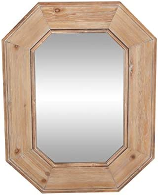 Deco 79 Wall Mirrors, Large, Brown