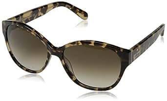 Kate Spade Women's Kiersten Oval Sunglasses,Camel Tortoise,55 mm