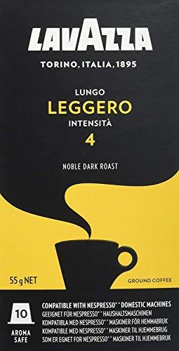 Cápsulas de Café Lavazza Lungo Leggero, Compatível com Nespresso, Contém 10 Cápsulas