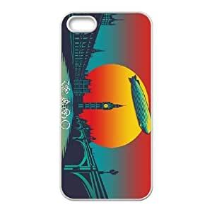 iPhone 5 5s Cell Phone Case White Led Zeppelin Sunset 001 Basic Cell Phone Carrying Cases LV_6086660
