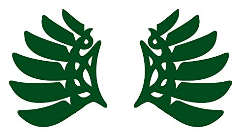 SellingDecals ncaa0010 Oregon Ducks 6 Feathered Wings Die Cut Vinyl Graphic Decal Sticker NCAA - Gold ()