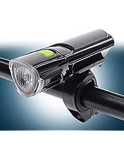 Nologo - Faros LED para bicicleta de montaña, resistente al agua, luz delantera de seguridad, linterna de bicicleta de montaña, accesorios de bicicleta, color negro, tamaño C