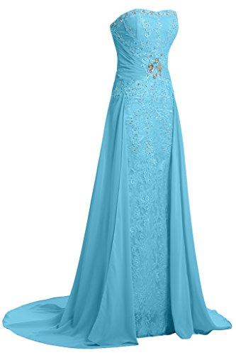 Hellblau Linie Partykleid Spitze Abendkleid Damen A Ivydressing amp;Chiffon Taegerlos Festkelid UPS6zxqw