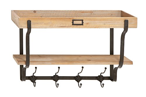 Deco 79 Functional Multi Level Wall Shelf and - Cooking Spoon Manhattan