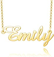 Moonlight Collections 925 Sterling Silver Custom Pendant Personalized Name Necklace
