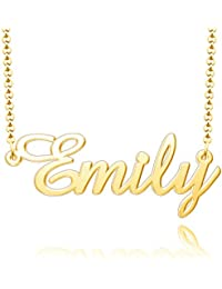 925 Sterling Silver Custom Pendant Personalized Name Necklace