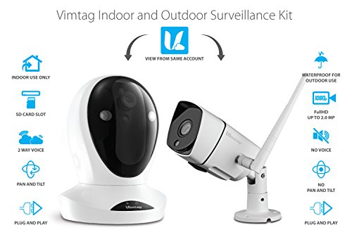 - Vimtag Camera Kit - P1 Indoor Cam, B3 Outdoor Cam, | Wireless Security Solution
