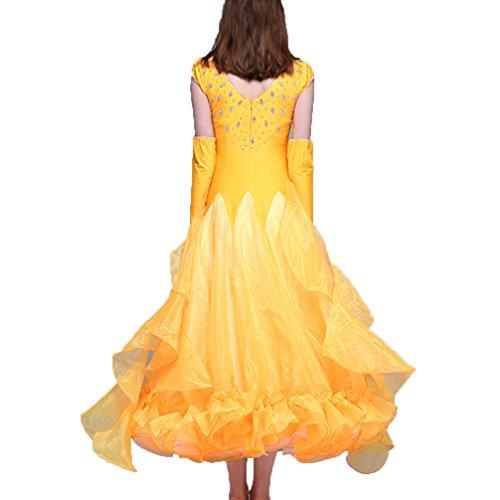 Per Ballo Più Colori Abiti L Senza Maniche Sala Outfit m Donne Competizione Wqwlf Prestazione Da Swing Blue Grande 1XwFq