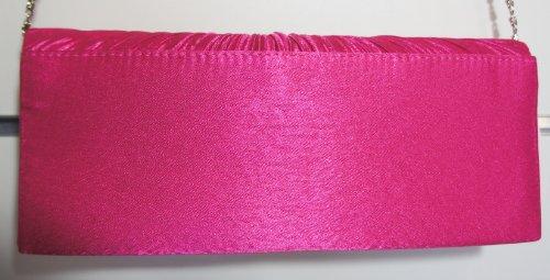 Casandra - Cartera de mano para mujer rosa Fuchsia Pink