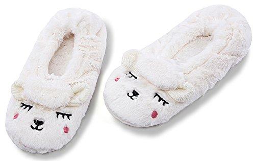 House MaaMgic Womens Animal Beige Bedroom Knit Winter Slippers Ladies Slippers Indoor Cute Fuzzy Christmas xIarwqZan