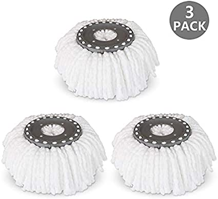 Replacement Heads Best Value 3 Pack Microfiber Mops For Hurricane//mopnado 360 /""