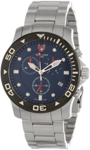 Swiss Eagle Men's SE 9001-22 Sea Bridge Chronograph Blue Watch
