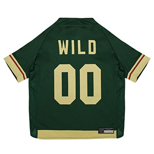 NHL Minnesota Wild Jersey for Dogs & Cats, Medium. - Let Your Pet be a Real NHL ()