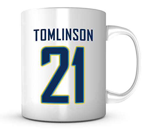 LaDainian Tomlinson Mug - Jersey Number Football Coffee Cup ()