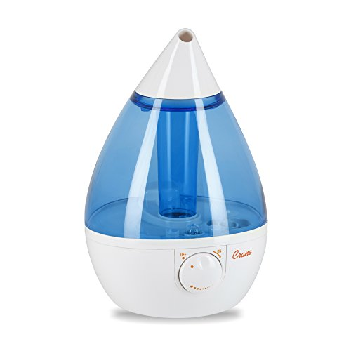 Crane USA Cool Mist Humidifier, Blue and White (Supreme Bathroom Sink)
