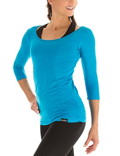 Winshape Damen Fitness Yoga Pilates 3/4-Arm Shirt WS4