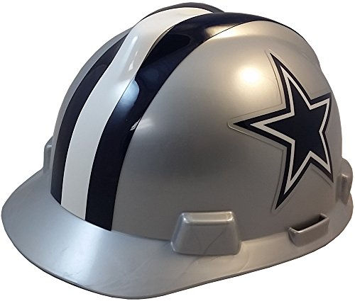 (MSA NFL Ratchet Suspension Hardhats - Dallas Cowboys Hard Hats )
