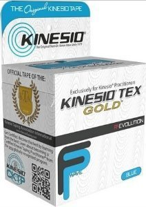 Kinesio Tex Gold Wave, Latex-Free, Water-Resistant - Blue - 6 PACK, 2'' X 16.4' #25024 by Kinesio by Kinesio (Image #1)