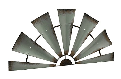 LL Home Metal Windmill Semi-Circle Wall Decor Home