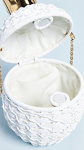White Women's Clutch Pineapple Wicker Serpui Marie X6qwS6F