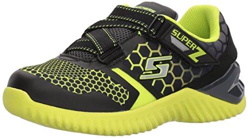 Skechers Kids Boys' Ultrapulse Sneaker,Black/Lime,2 Medium US Little ()