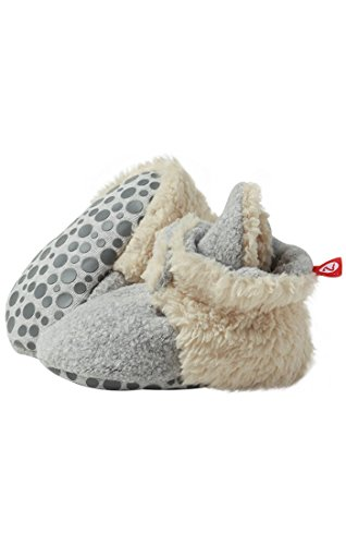 Zutano Cozie Fleece Furry Lined Bootie with Grippers Grey Size: Large