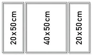 Schipper 605260767 silber 50 x 80 cm Triptychon Alurahmen Malen nach Zahlen