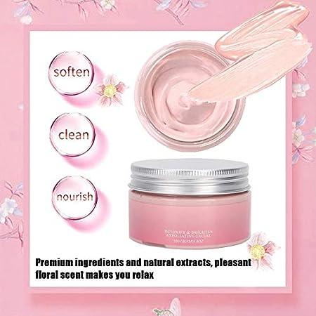 Cuidado facial de arcilla, blanqueamiento exfoliante Limpieza de poros Limpieza de lodo facial Limpieza profunda de poros Tratamiento facial antienvejecimiento para pieles secas, grasas o normales