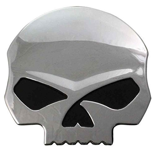 Harley-Davidson Willie G Skull Chrome Finish Hard Plastic Decal DC1199062