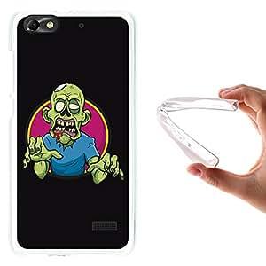 WoowCase - Funda Gel Flexible { Huawei G Play Mini } Zombie Verde Carcasa Case Silicona TPU Suave