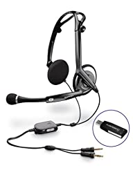 Plantronics Foldable USB Stereo Headset (Optimized for Laptop Use) (Audio 470 USB)
