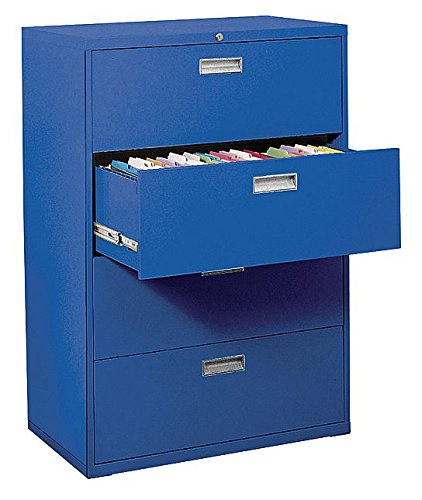 Sandusky Lee LF6A364-06 600 Series 4 Drawer Lateral File Cabinet, 19.25