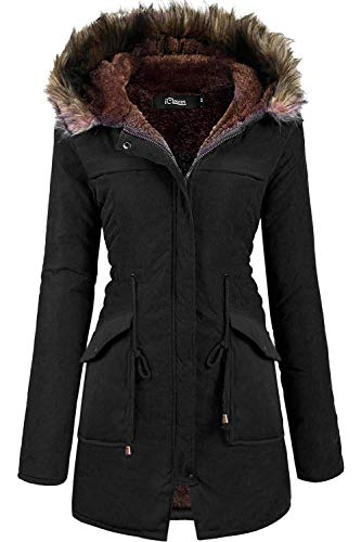 - iClosam Women Hooded Warm Long Coats Faux Fur Lined Parka Anroaks Outdoor Jackets