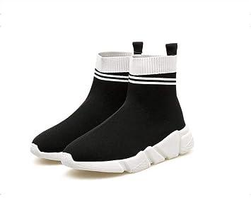 Alto-Top Calcetines Botines Casual Sport Zapatos Mujeres Elasticidad Color Partido Snekers EU Tamaño 35-39: Amazon.es: Deportes y aire libre