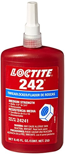 Loctite 24241 Blue 242 Medium Strength Threadlocker, 250 mL Bottle by Loctite