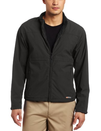 Mobile Warming Gear Men's Softshell Jacket, Black, Small