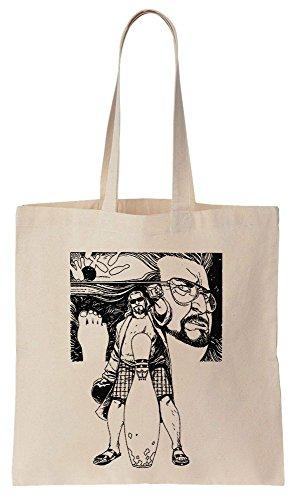 Drawing Bowling Dude Tote Compras de Algodón Bag de The Reutilizables Bolsos wAqE7qC