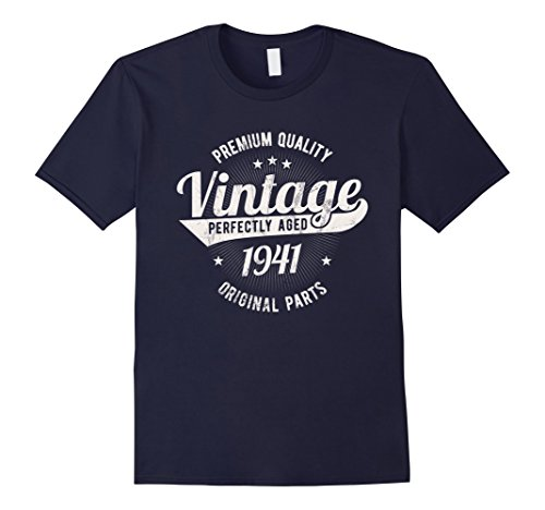 Mens Vintage Est 1941 T-Shirt 77 Years Old 77th Birthday Gift XL Navy