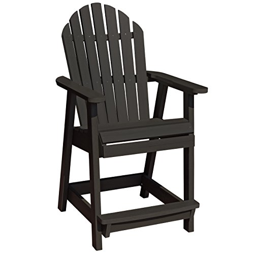 Adirondack Counter Chair (Highwood Hamilton Counter Height Deck Chair, Black)
