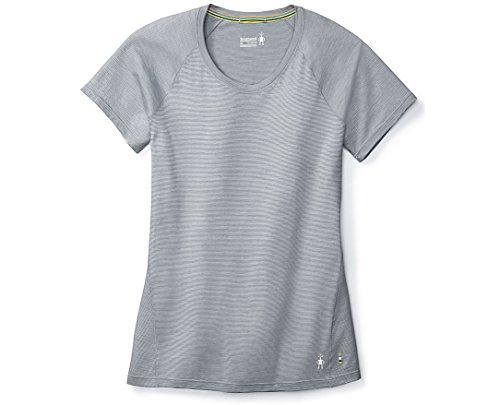 SmartWool Women's Merino 150 Baselayer Pattern Short Sleeve Dark Pebble Gray Large
